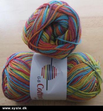 Sysle.dk - Håndarbejdsbutik: 0006 - Cotton 8/4 - Multi Meleret - 50g 1ng. - Garn: Bomuld/Bom. Ac ...